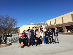 Tahquitz High Schools' Academic Decathlon Teams at Beaumont High School for the Academic Decathlon competition.