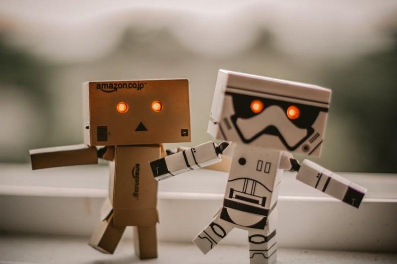 Darth Vader and Luke Skywalker Robots