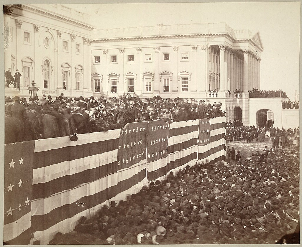 James A. Garfield takes the oath of office