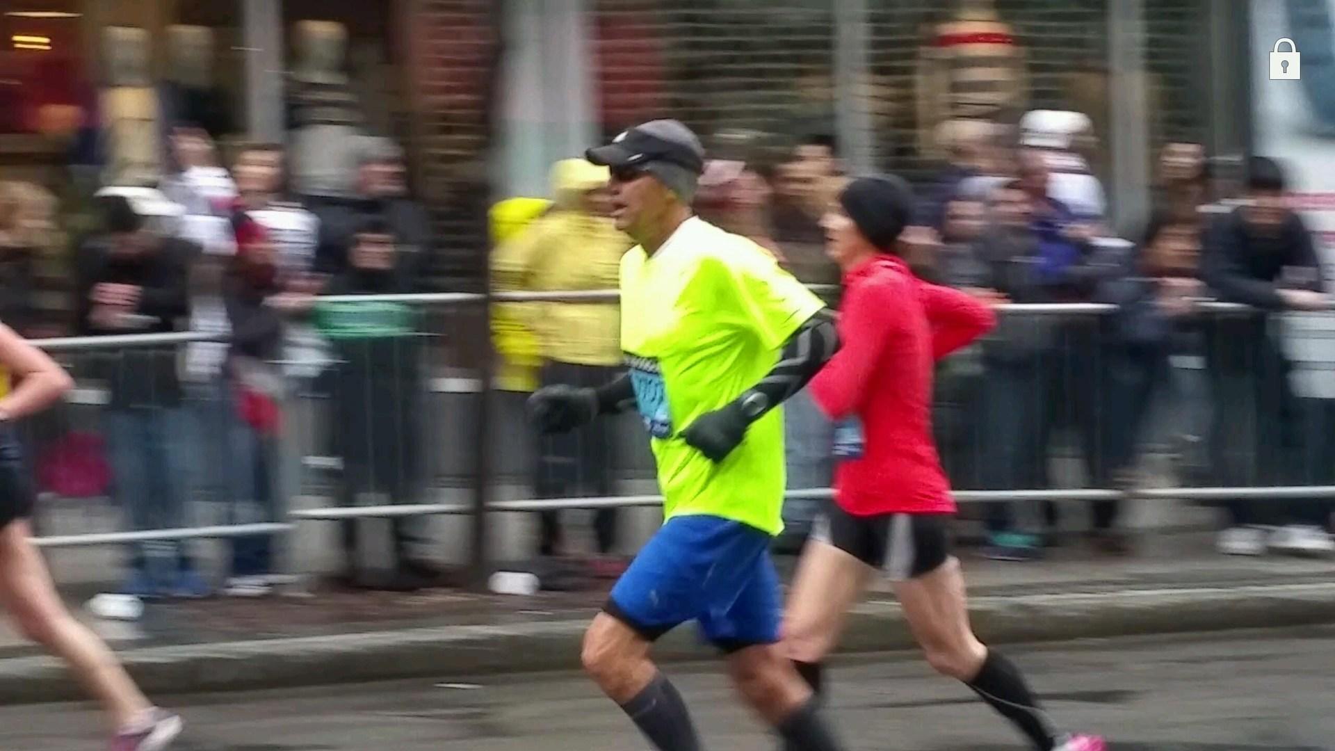 Finishing the Boston Marathon