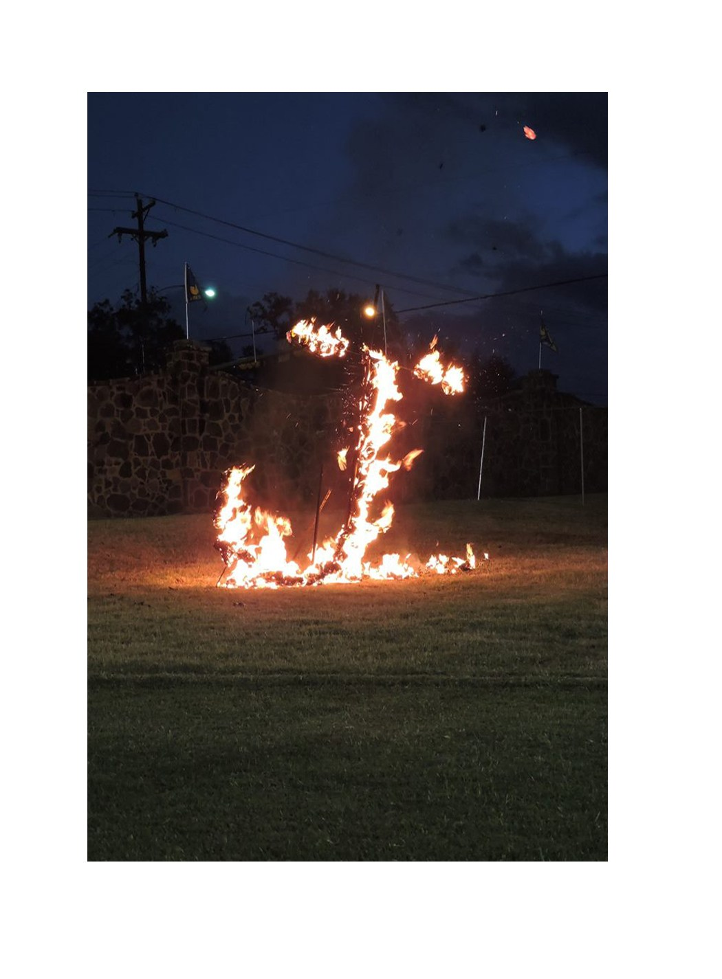 picture of the Flaming J at Tomato Bowl