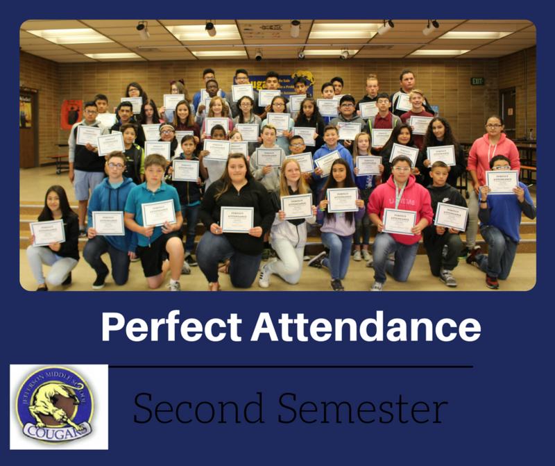 Perfect Attendance Second Semester Thumbnail Image