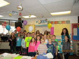 Ms. Andrea Reynolds and class, 4th grade at Stansbury Park Elementary
