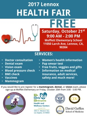 lennox health fair 2017 flyer