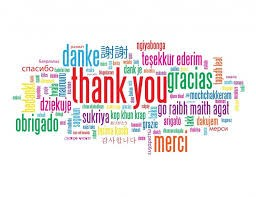 Clipart of thank you in different languages