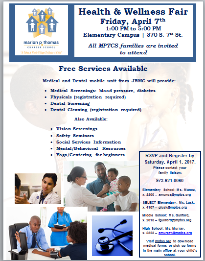 Join us for our 1st Annual MPTCS Health Fair on Friday, April 7th Thumbnail Image