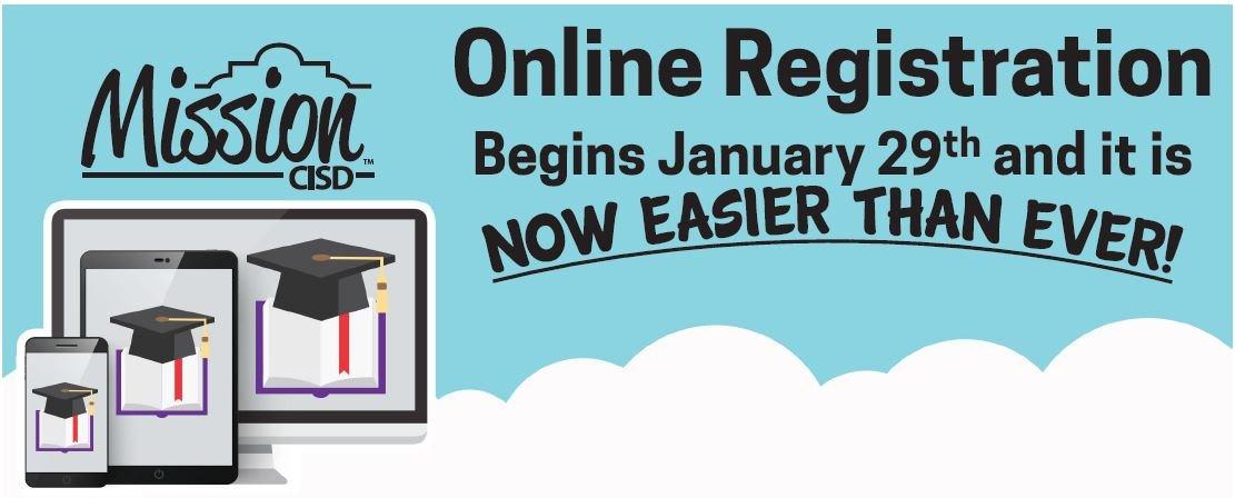 Online Registration Begins January 29