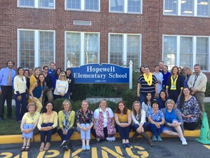 Wearing Bonita Springs school colors