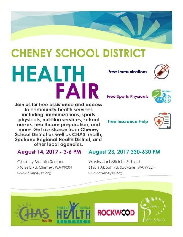 Free Health Fair-August 23rd Thumbnail Image