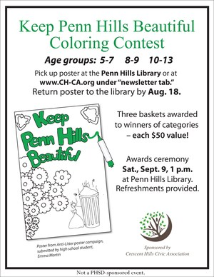 Litter Coloring Contest Flyer