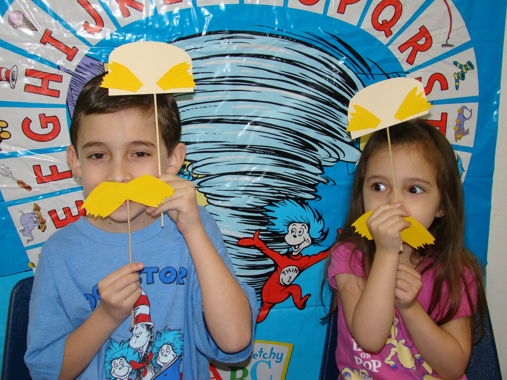 Students in their Dr. Seuss