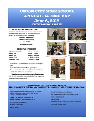career day invitation