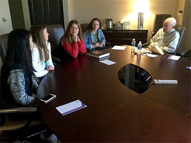 The Triton staff with Washington Post editor