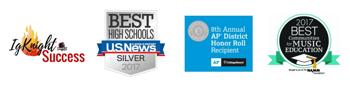 IgKnight Success - Best High Schools Silver 2017 - 8th Annual AP District Honor Roll - 2017 Best Communities for Music Education