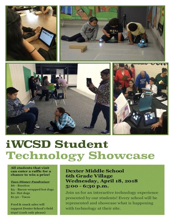 iWCSD Student Technology Showcase Flyer