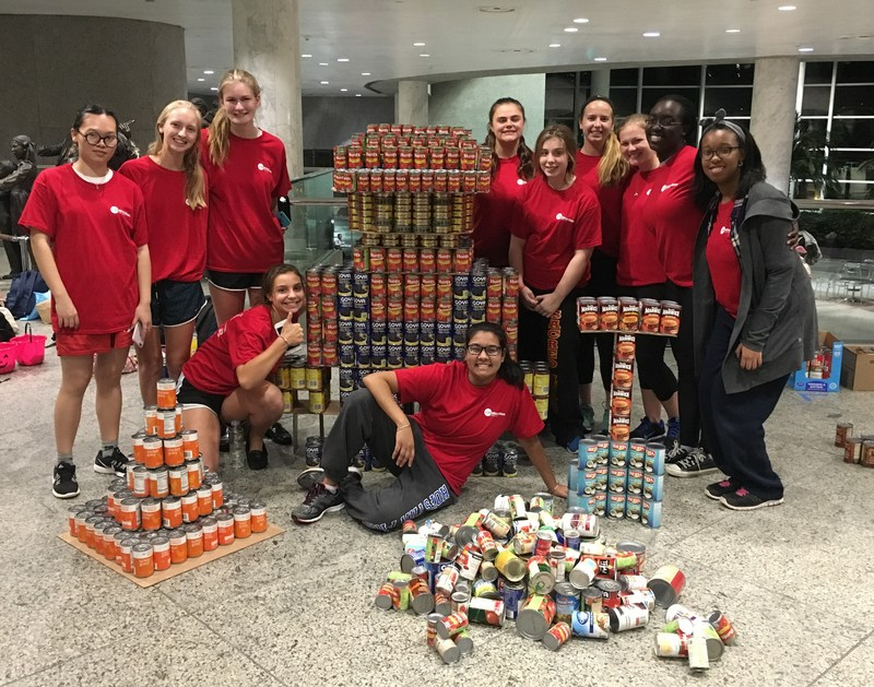 Sweeney Sisters Christmas Party Video Part - 20: SHA Wins Engineering Award, Helps Fight Hunger At U201cCANstructionu201d Competition