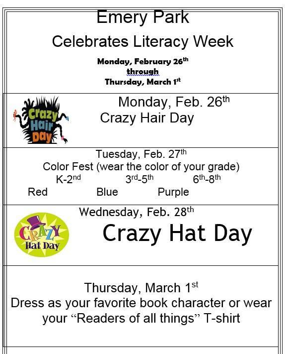 Celebrate Literacy Spirit Week, Feb. 26-Mar. 1 Thumbnail Image