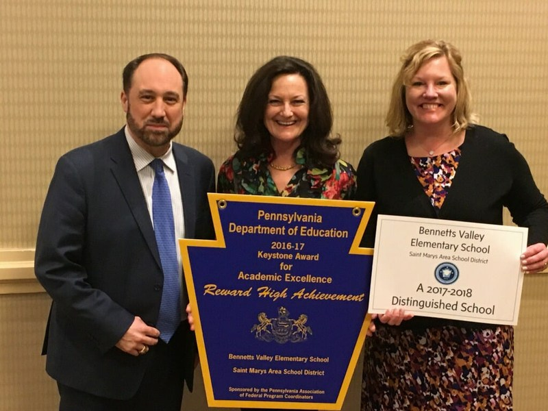 Pennsylvania Department of Education, Division of Federal Programs, honored Bennetts Valley Elementary School Thumbnail Image
