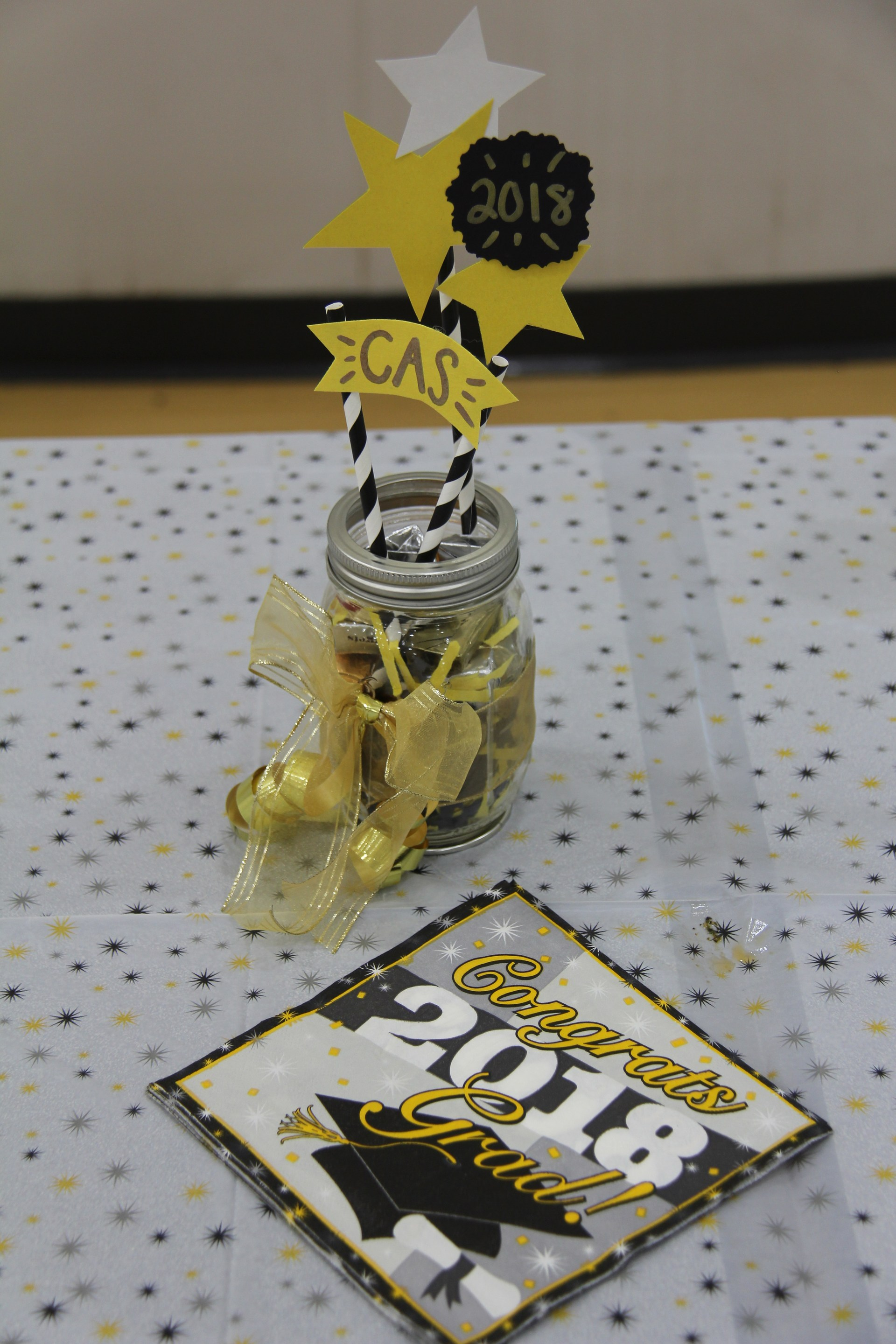 Image of graduation decor at CAS Celebration Event