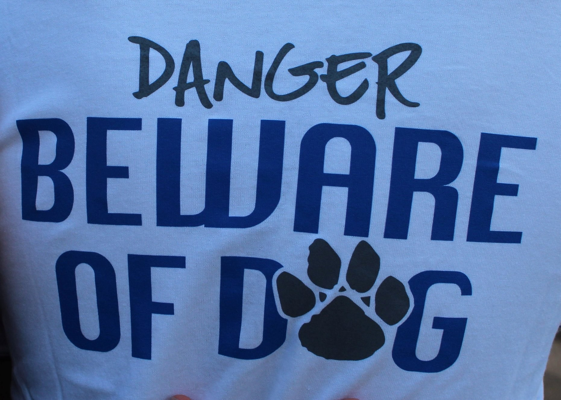 LHS Spirit Wear tshirt Danger Beware of Dog