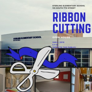 Sterling Elementary Ribbon Cutting January 2nd at 6 pm