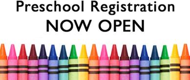 Preschool Registration Open! Thumbnail Image