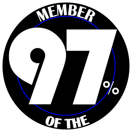 JOIN THE 97% CLUB! Featured Photo