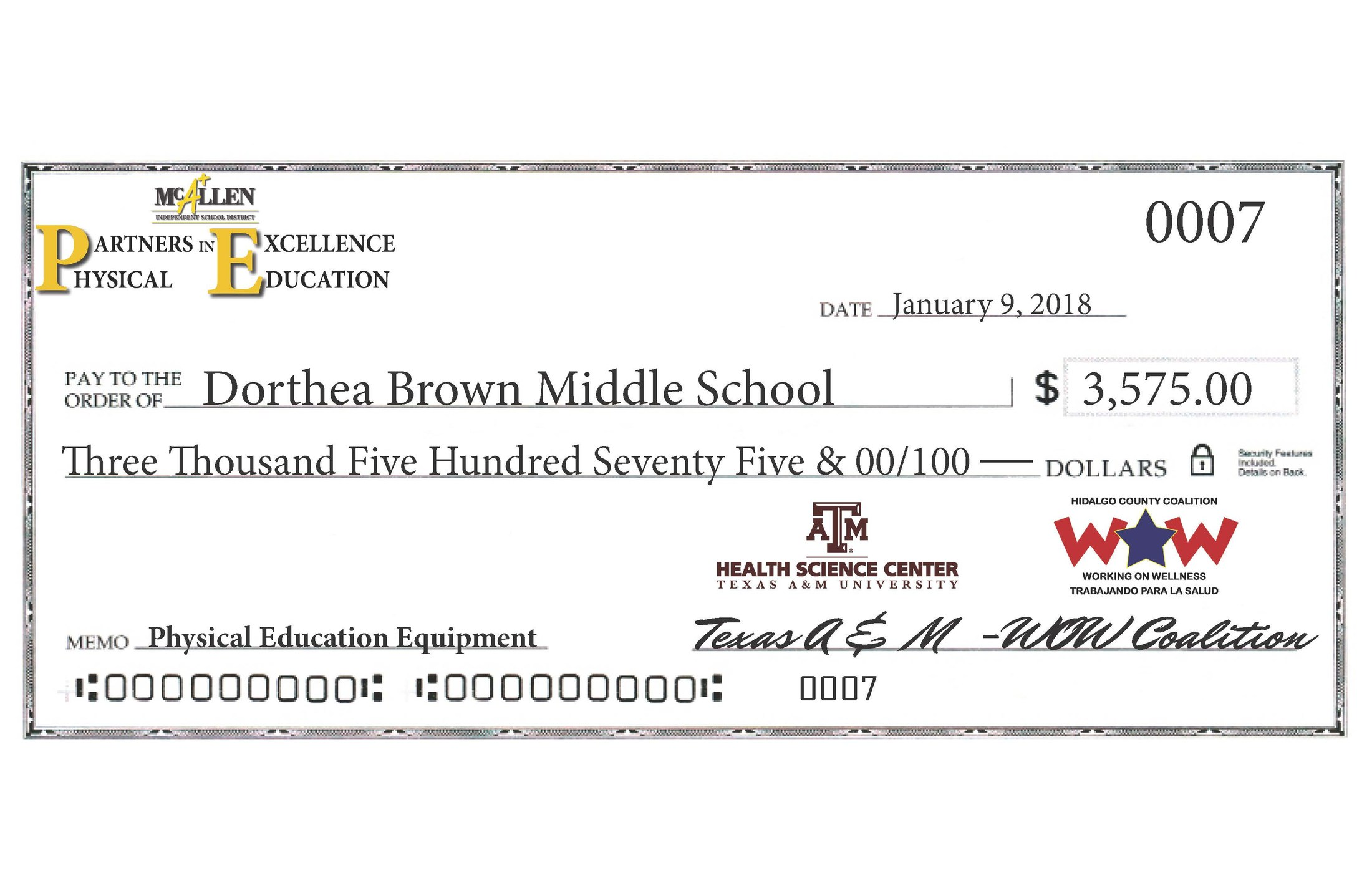 Thank you - Texas A&M - WOW Coalition!