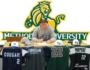 Leaton White signs with Methodist University.