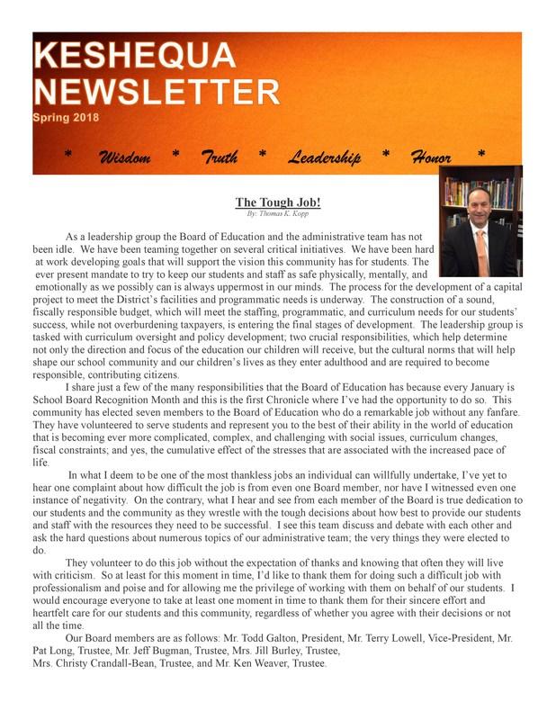 Keshequa Newsletter