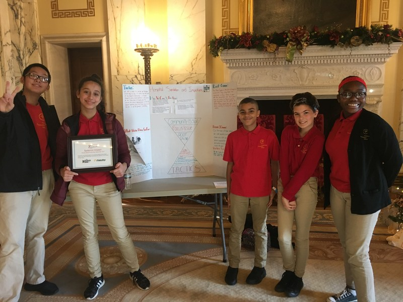 7th Grade Attends Civics Day at the Rhode Island State House, Returns with an Award! Featured Photo