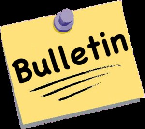 August 11, 2017 School bulletin with upcoming information.