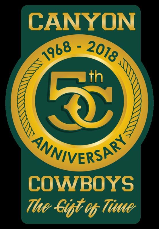 Canyon High School 50th Anniversary logo