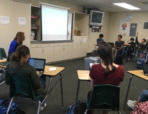 Engaging discussion on Dreams vs. Goals with Ms. Mistry in Junior High Seminar today!