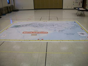 A giant map of North Carolina.