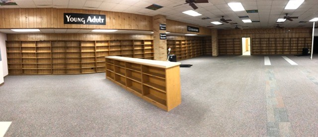 The JH Library is ready for the remodel to begin!