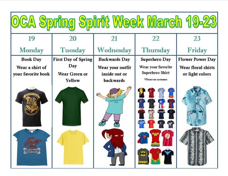 OCA Spring Spirit Week Thumbnail Image