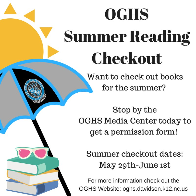 Summer reading opportunities for OGHS.