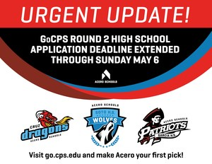 GoCPS Round 2 online application deadline is extended to Sunday, May 6, 2018