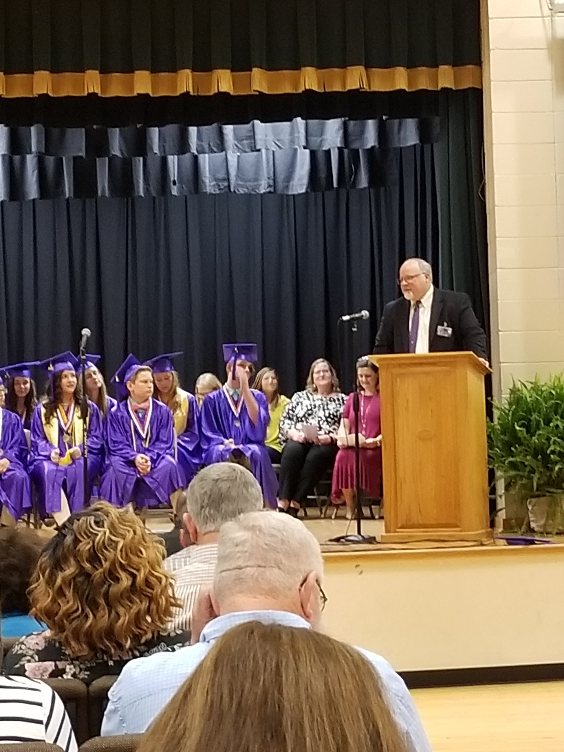 Mr. McGee speaks at the Randolph Elementary 2018 6th grade graduation