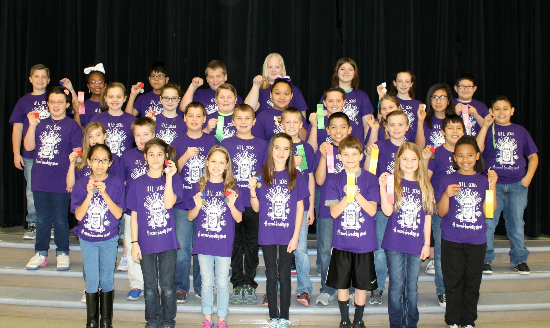 UIL student competitors at Travis Elementary