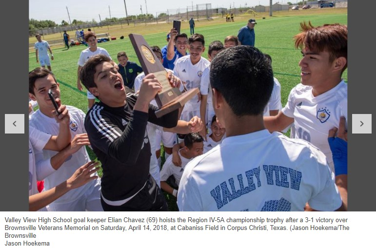 Valley View High School Region IV-5A championship trophy Thumbnail Image