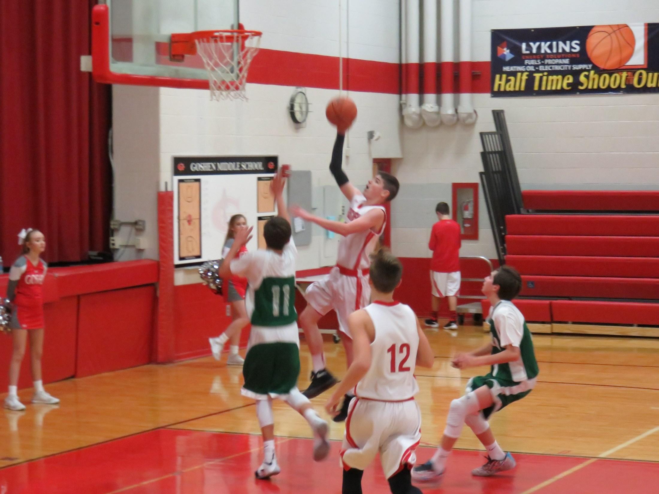 7th grade boys basketball player Garrettt Whitaker