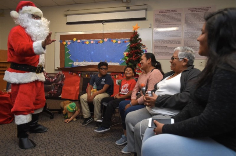 Santa visits lennox families