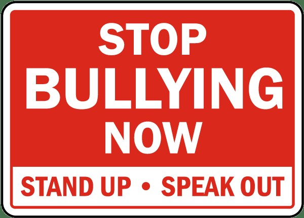 Stop bullying now graphic