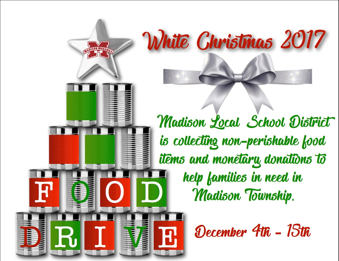 White Christmas canned food drive