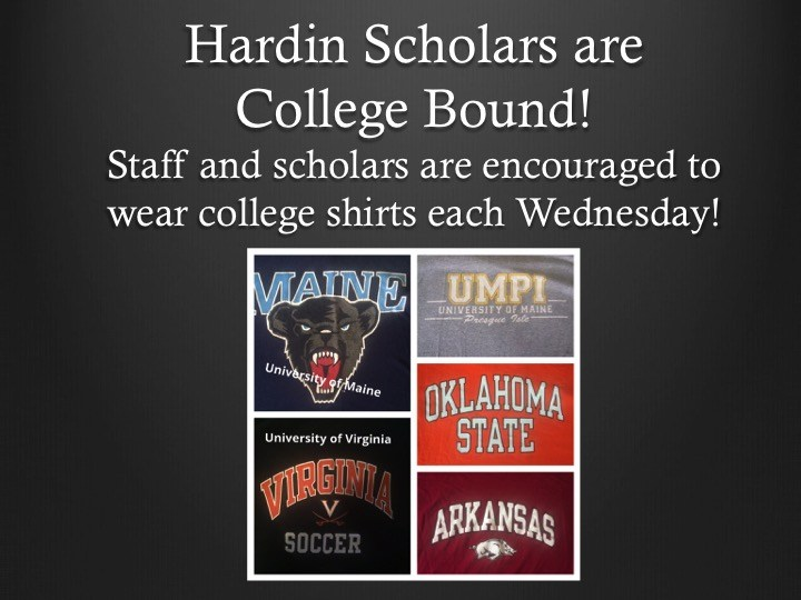 Every Wednesday is College Shirt Day! Thumbnail Image