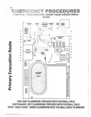 BHS Evac Routes