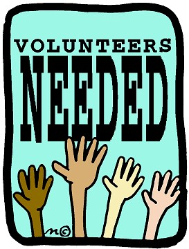 volunteers needed- clip art of hands in the air