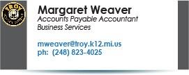 Margaret Weaver, mweaver@troy.k12.mi.us.